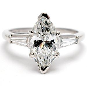 Marquise Cut Diamond Ring With Baguettes Ringscladdagh